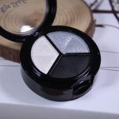Smoky Cosmetic Set 3 Warna Professional Natural Matte Makeup Eye Shadow-Intl