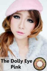 Softlens Dolly Eye Glamour - Pink + Gratis Lens Case