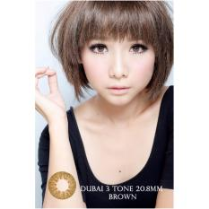 Model Softlens Dubai 3 Tones Brown Gratis Lens Case Terbaru