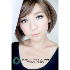 Harga Softlens Dubai 3 Tones Tosca Green Gratis Lens Case Yang Murah