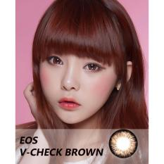Softlens EOS V-Check - Brown - Gratis Lens Case
