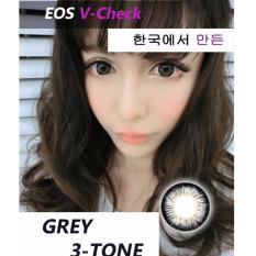 Jual Softlens Eos V Check Grey Gratis Lens Case Indonesia