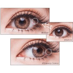 Spek Softlens Geo Magic 3 Tone Brown Gratis Lens Case Indonesia