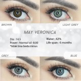 Jual Softlens May Veronica Grey Travel Kit Biskuit Grosir