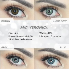 Spek Softlens May Veronica Grey Travel Kit Biskuit