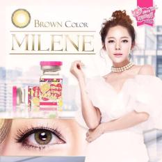 Jual Softlens Milene Brown Gratis Lens Case Branded Original
