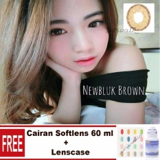 Softlens Newbluk - Brown +Gratis Lenscase + Cairan Softlens 60ml