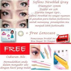 Softlens Newbluk Gray/Soflen Newbluk Grey/Soflens Newbluk Grey/ Gratis Lenscase + Cukuran Alis - Pembentuk Alis Indah