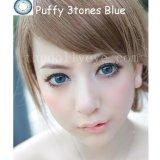 Spesifikasi Softlens Puffy 3 Tones Blue Gratis Lens Case Yang Bagus
