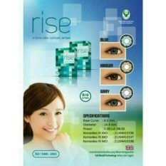 Softlens Rise 2 Tone Color Contact Lenses + Lenscase - Brown