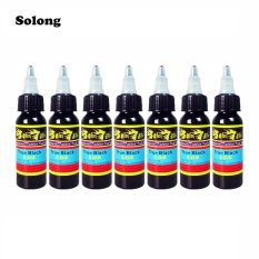 Solong 7Pcs Set 30Ml Bottle Complete Tattoo True Black Inks Black Intl Solong Diskon 40