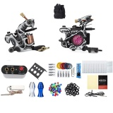 Harga Solong Tattoo Kit 2 Carbon Steel 10 Bungkus Kumparan Mesin Power Supply 20 Jarum 29 Warna Untuk Pemula Uk Plug Hitam Dan Putih Dan Merah Intl Asli Not Specified