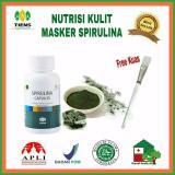 Jual Spirulina Masker Jerawat 25 Kaps Free Kuas Cantik Tiens Supplement Grosir