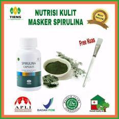 Review Toko Spirulina Masker Jerawat 25 Kaps Free Kuas Cantik