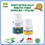 Ulasan Mengenai Spirulina Vitaline Paket Pemutih Badan 130 Kapsul