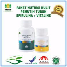 Harga Spirulina Vitaline Paket Pemutih Badan 130 Kapsul Merk Tiens Supplement