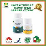 Harga Spirulina Vitaline Paket Pemutih Badan 130 Kapsul Paling Murah