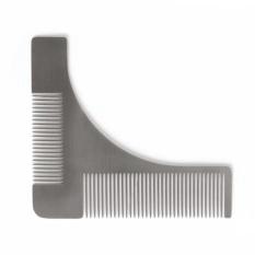 Beli Stainless Steel Beard Styling Shaping Template Comb Trim Tool Sempurna Untuk Lines Symmetry Intl Murah