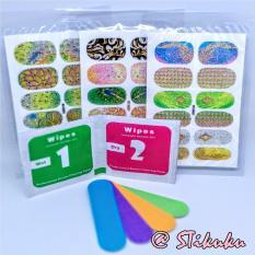 STIKUKU Nail Sticker Gliter 3Model *free pembersih & kikir*