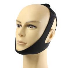 Toko Berhenti Mendengkur Tali Pengikat Dagu Anti Mendengkur Sabuk Apnea Rahang Solusi Dukungan Tidur Hitam Termurah