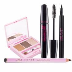 Spesifikasi Sulamit Paket Makeup 2 Eyeliner Mascara Eyebrow Eyeshadow Sulamit