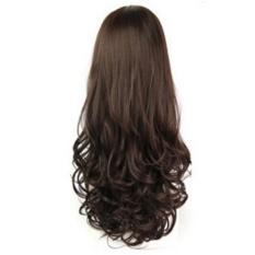 Beli Sunshop Wanita Setengah Wig Kepala Set Tahan Panas Rambut Keriting Panjang Simulasi Wig Sets Coklat Tua Intl Kredit