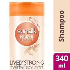 Sunsilk Hijab Recharge Shampoo Lively Strong Anti Hairfall 340Ml