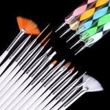 Situs Review Sunwonder Beauty G*rl 20 Pcs Nail Art Design Set Dotting Lukisan Menggambar Brush Pen Tool Putih Intl Intl