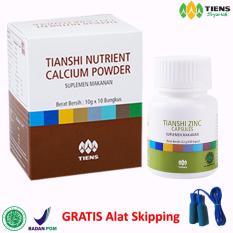 Jual Tiens Suplemen Peninggi Badan Untuk 10 Hari 1 Calsium 1 Zinc Free Alat Skipping Member Card Hmc Murah