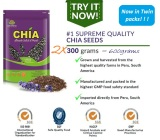 Suplementos Chia Seeds Organically Grown 300Grams X 2 Riau Islands Diskon 50