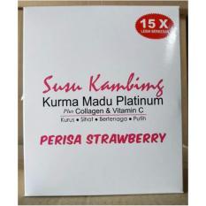 Susu Kambing Kurma Madu Platinum - Suplemen Kulit Sekaligus Nutrisi Tubuh Rasa Strawberry