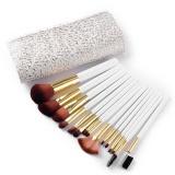 Harga Synthetic Kabuki Makeup Brushes Set Profesional 15 Pcs Dengan Premium Pouch Putih Intl Oem Original