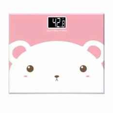 Taffware Timbangan Badan Mini Digital Desain Kartun Bear 180Kg S9737 Putih Pink Indonesia Diskon 50