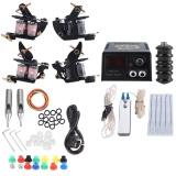Kualitas Tattoo Kit 2 Peralatan Mesin Shader Jarum Power Supply Tip Untuk Pemula Eu Plug Intl Not Specified
