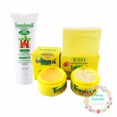 Model Temulawak Original Hologram Super Paket Cream Temulawak Cream Siang Malam Sabun Plus Ginseng F*c**l Whitening Freckle Cleanser Terbaru