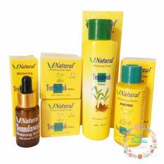 Temulawak V Natural - Paket Kompilt Temulawak V Natural ( Cream Siang, Malam , Toner, Alcohol , dan Serum )