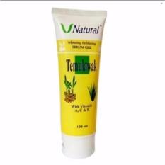 Temulawak V Natural Whitening Expoliating Serum Gel - Peeling Gel Temulawak 100ml 1Pcs Original