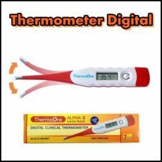 TermoOne Thermometer Digital Elastis warna Merah