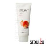 The Face Shop Herb365 Cleansing Foam Peach 170Ml Thefaceshop Murah Di Indonesia