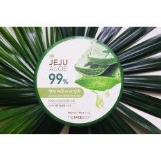 The Faceshop Jeju Aloe Soothing Gel Original 300Ml The Face Shop Diskon 50