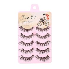 Harga Terendah Kecantikan Ready Stok 5 Pasang Bulu Mata Palsu Handmade Natural Fake Eye Lash Kecantikan