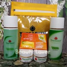 Spesifikasi Theraskin Paket Acne Cream Perawatan Untuk Kulit Berjerawat Free 1 Sachet Makarizo Shampo Yg Baik