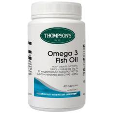 Thompson Premium Fish Oil 1000Mg - Omega 3 - 400 Kapsul