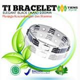 Harga Ti Bracelet Elegant Black Man 230Mm Tiens Official Gh Online