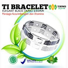 Beli Ti Bracelet Elegant Black Man 230Mm Tiens Official Gh Seken