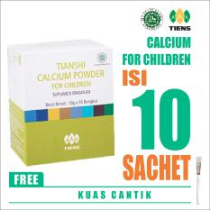 Jual Tiens Calcium Powder For Children Free Kuas Masker Kalsium Anak Tianshi Susu Peninggi Pertumbuhan Badan 1 Box Isi 10 Sachet Branded Original