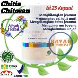 Jual Tiens Chitin Chitosan 25 Kapsul Penghilang Bekas Jerawat Dan Bopeng Ampuh 100 By Afiyah Herbal Murah