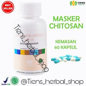Tiens Chitosan Masker Anti Jerawat – Paket Promo Banting Harga 60 Kapsul + GRATIS Kuas +