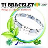 Harga Tiens Gelang Kesehatan Ti Bracelet Crystal Black Man 220Mm Penyeimbang Badan By Silfa Shop Asli