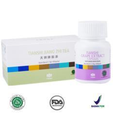 Toko Tiens Grape Extract Original 1 Botol Isi 60 Kapsul Free Teh Detox Lengkap